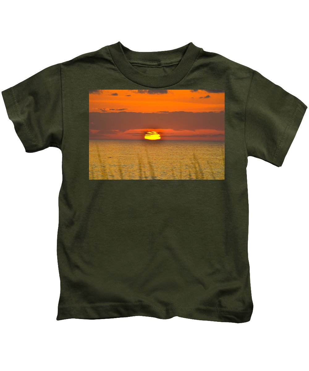 Beach Cottage Life Kids T-Shirt featuring the photograph Sun Delight by Mary Hahn Ward