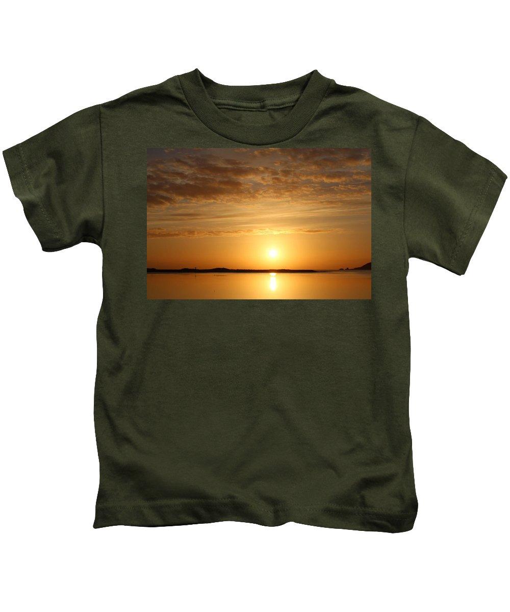 Sea Kids T-Shirt featuring the photograph Sun Rise by Robert Phelan