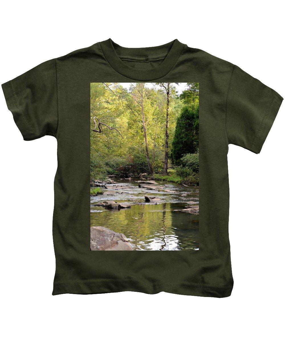 Sundown Kids T-Shirt featuring the photograph Sundown In September 2012 by Maria Urso