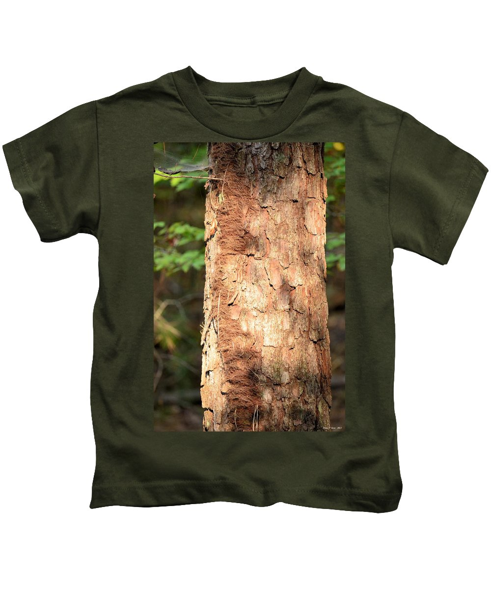 Sunlit Kids T-Shirt featuring the photograph Sunlit Bark by Maria Urso