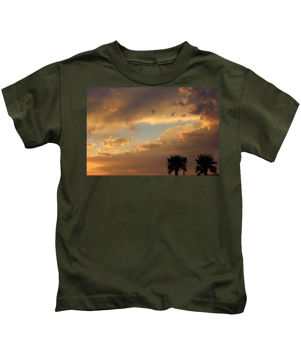 Sunset Kids T-Shirt featuring the photograph Sunset In California by Becca Buecher