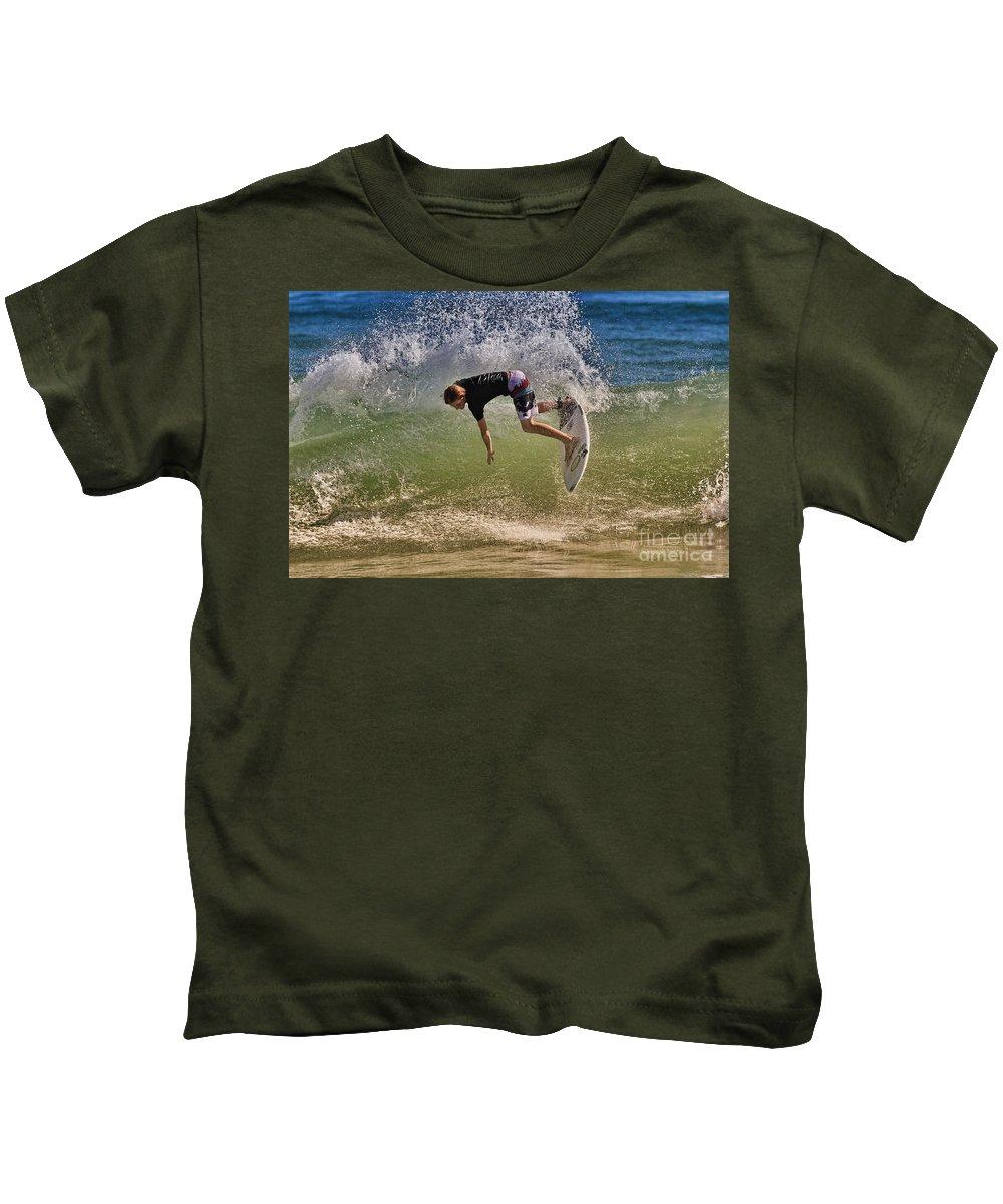 Surfer Kids T-Shirt featuring the photograph Surfer 9222013 by Deborah Benoit