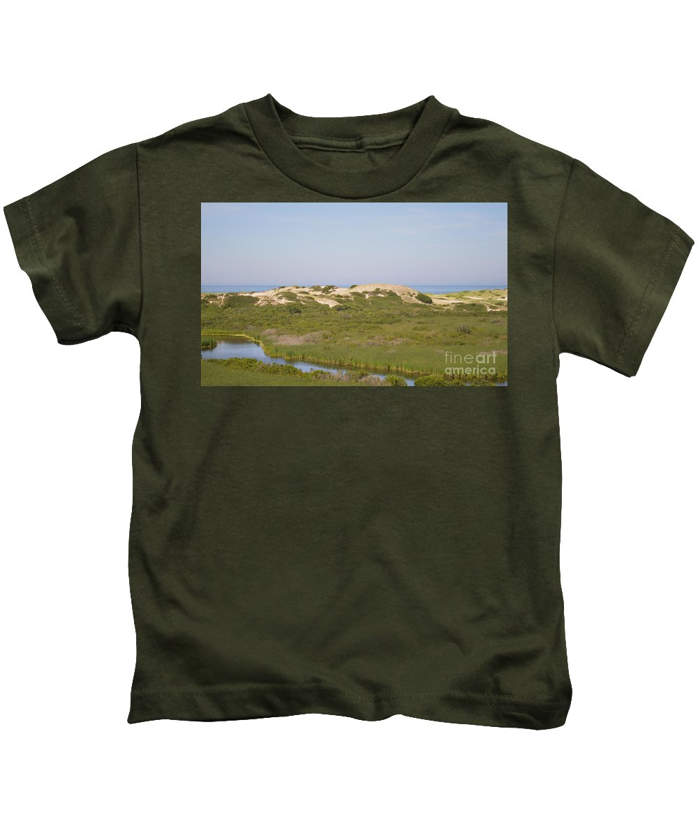Cape Cod Kids T-Shirt featuring the photograph Swamp And Dunes by Meandering Photography