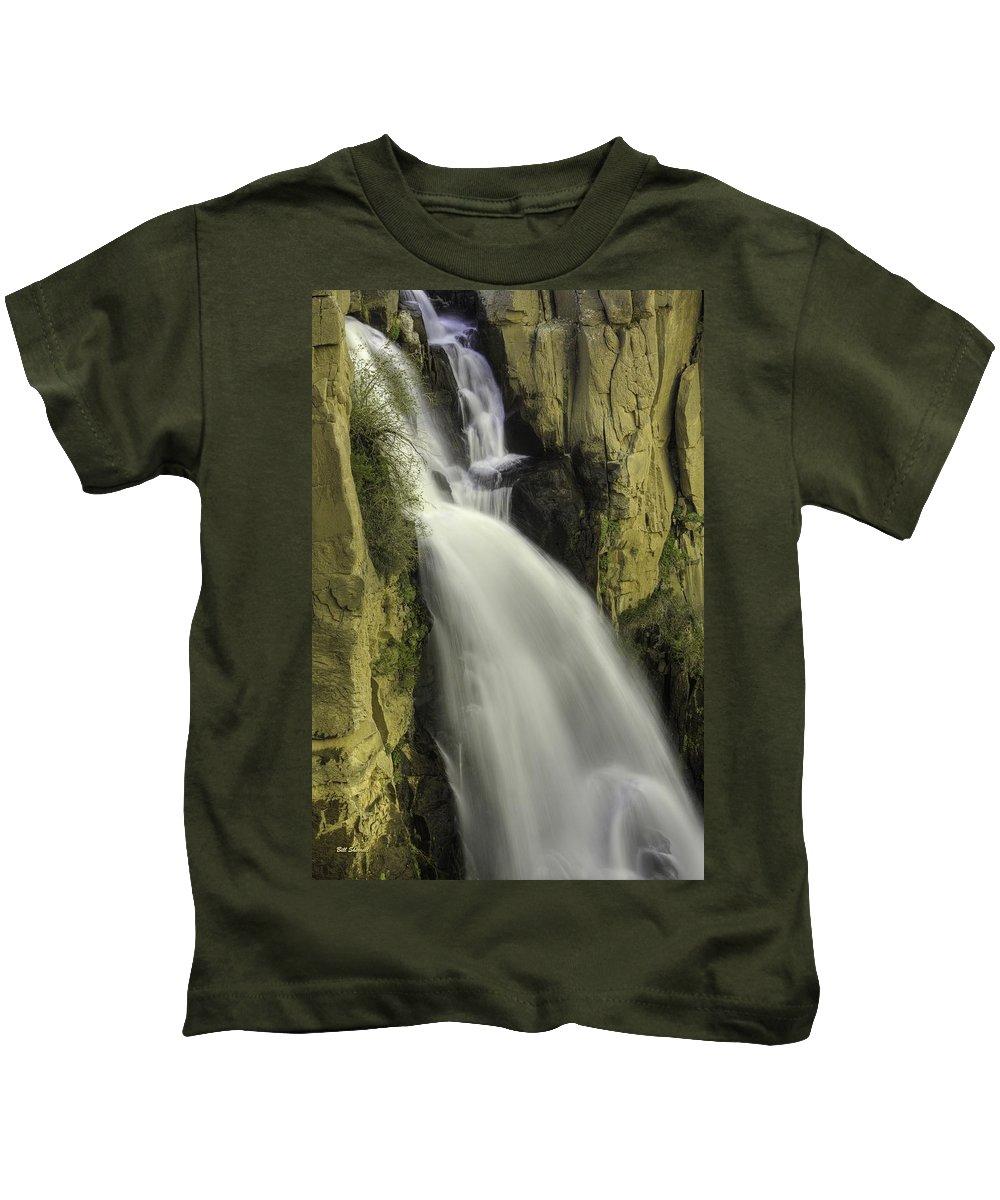 Waterfalls Kids T-Shirt featuring the photograph Tall Canyon Waterfalls by Bill Sherrell