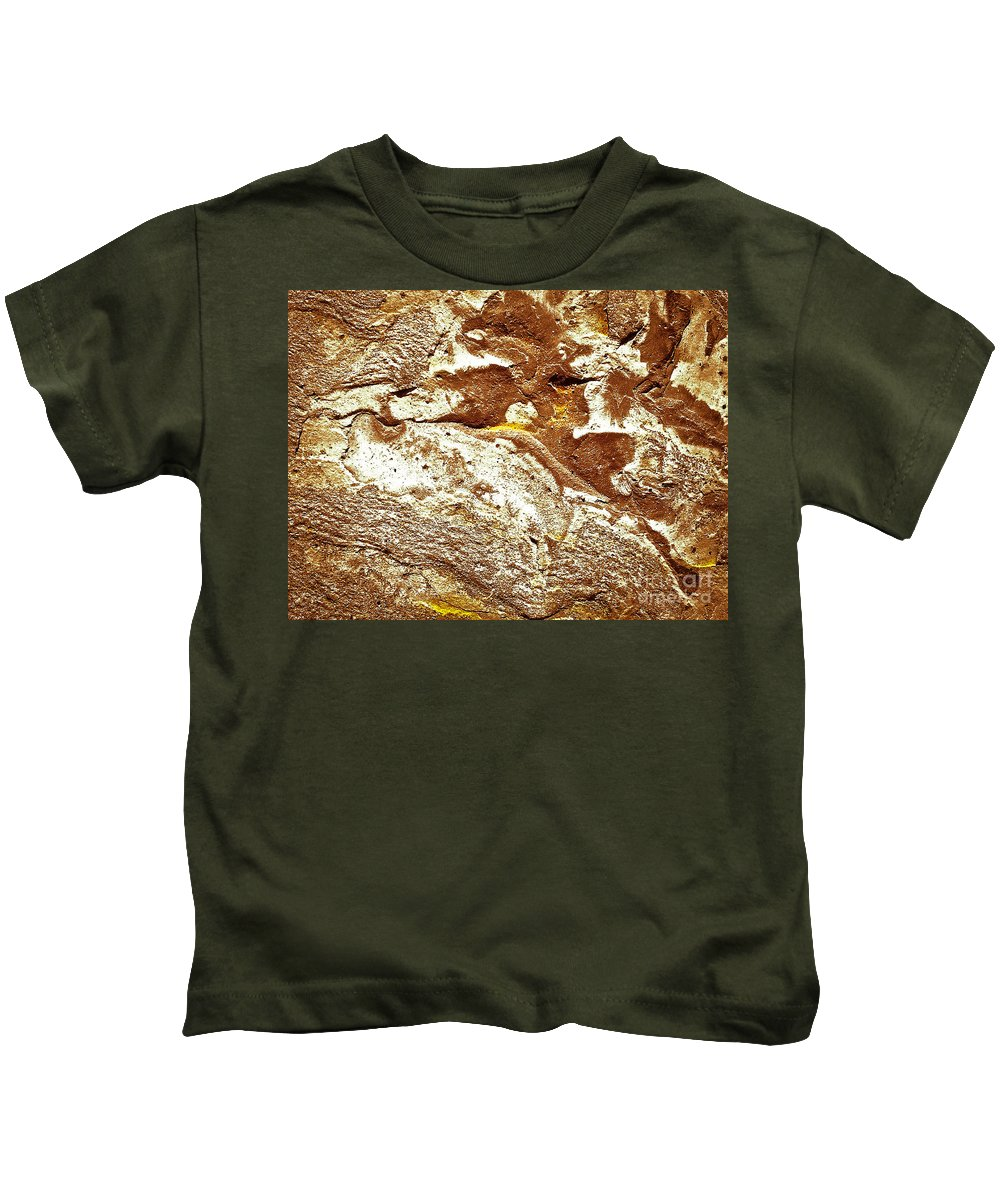 Abstract Kids T-Shirt featuring the photograph Texture No.7 Effect 10 by Fei A