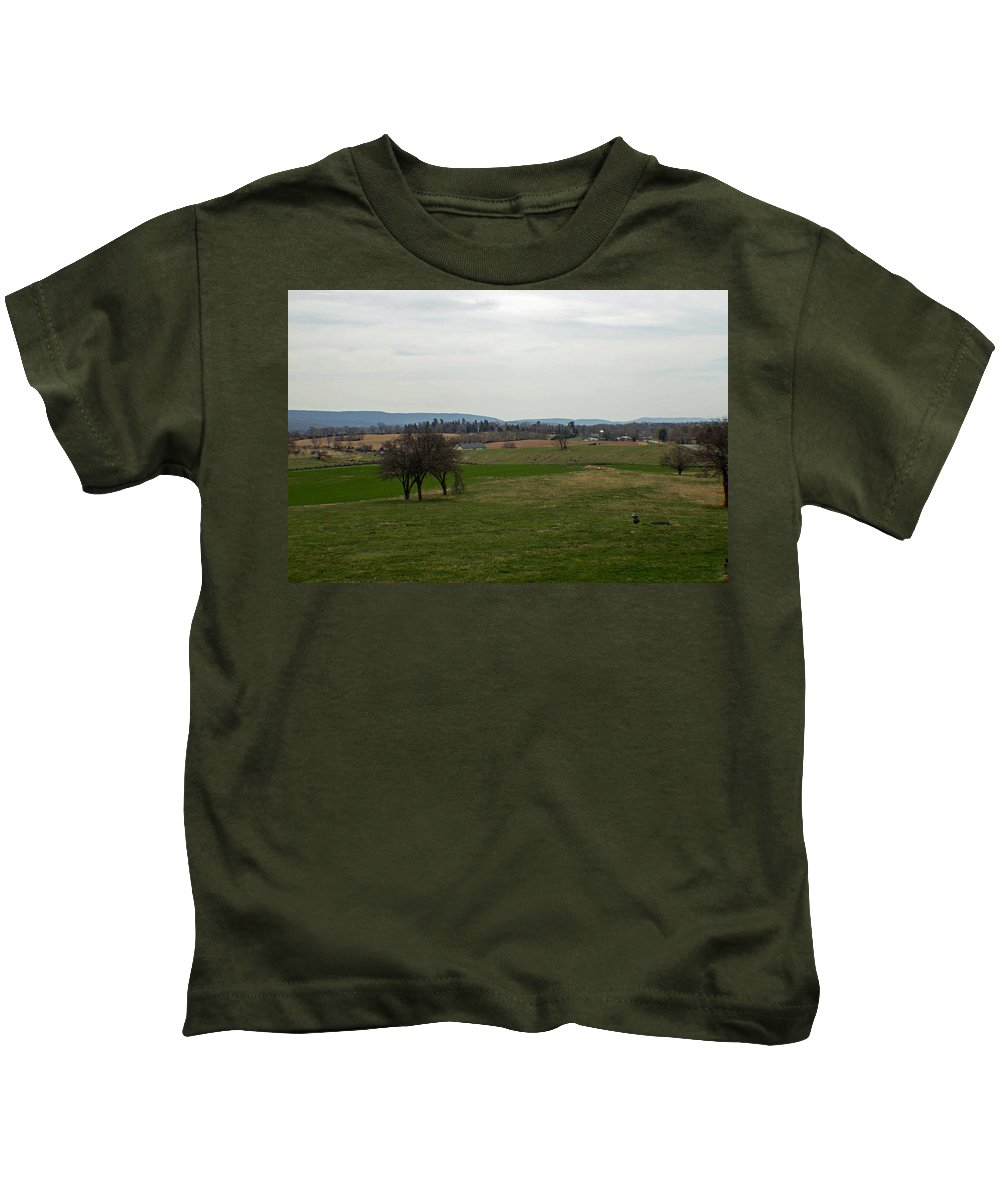 Civil War Kids T-Shirt featuring the photograph The Bloody Fields Of Antietam 2 by Howard Tenke