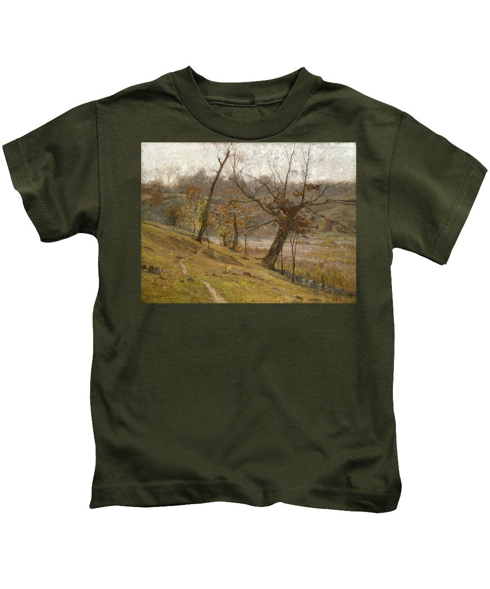 Theodore Clement Steele Kids T-Shirt featuring the painting The Bloom Of The Grape by Theodore Clement Steele