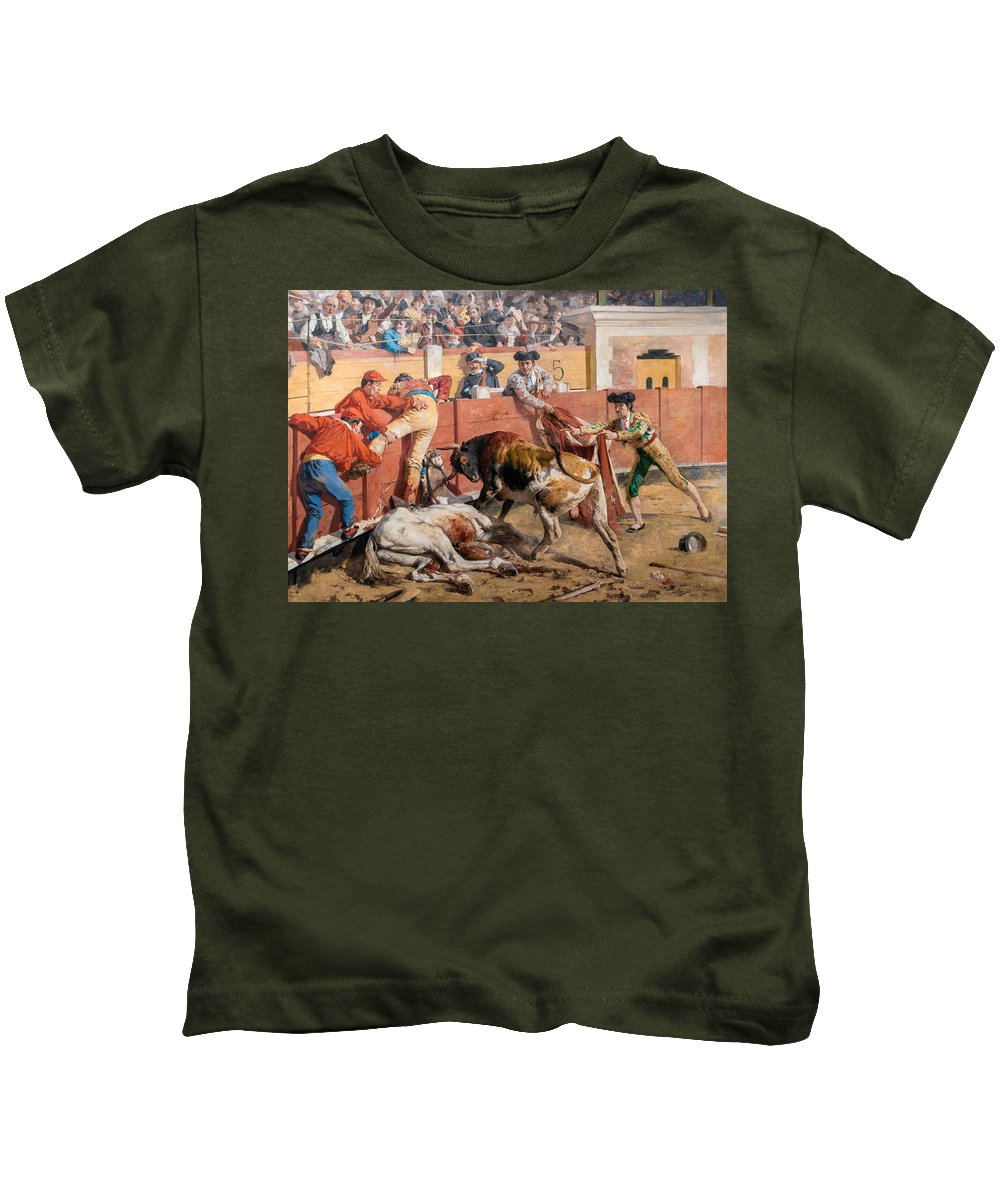 Arturo Michelena Kids T-Shirt featuring the painting The Broken Rod by Arturo Michelena