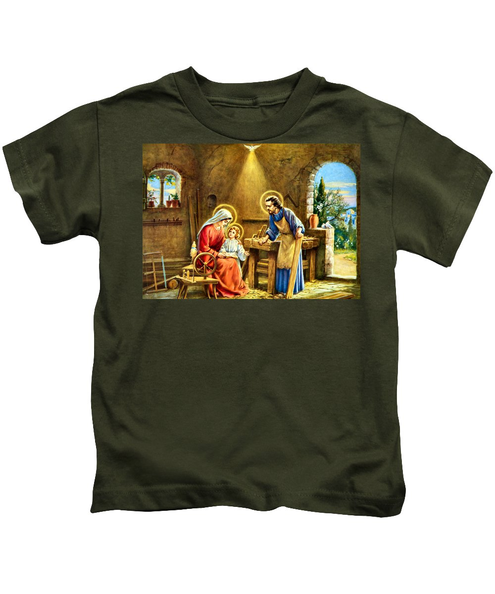 Joseph Kids T-Shirt featuring the photograph The Carpenter by Munir Alawi
