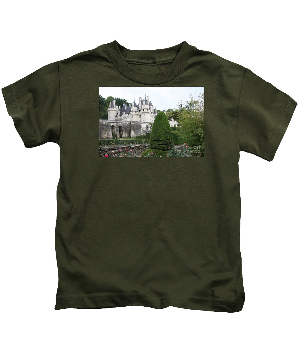 Palace Kids T-Shirt featuring the photograph The Chateau's Towers View by Christiane Schulze Art And Photography