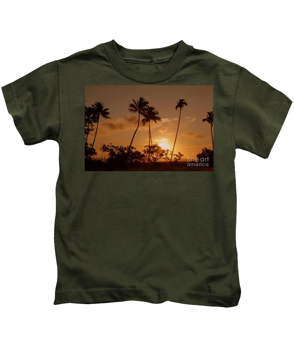 Sunset Kids T-Shirt featuring the photograph The Glow Of Sunset by Mary Deal