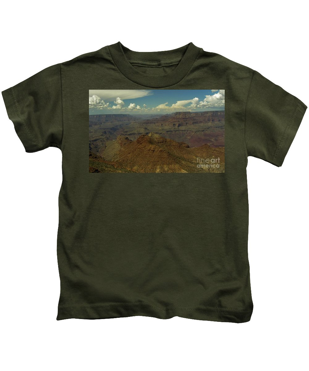 Lovejoy Kids T-Shirt featuring the painting The Grand Canyon by Lovejoy Creations