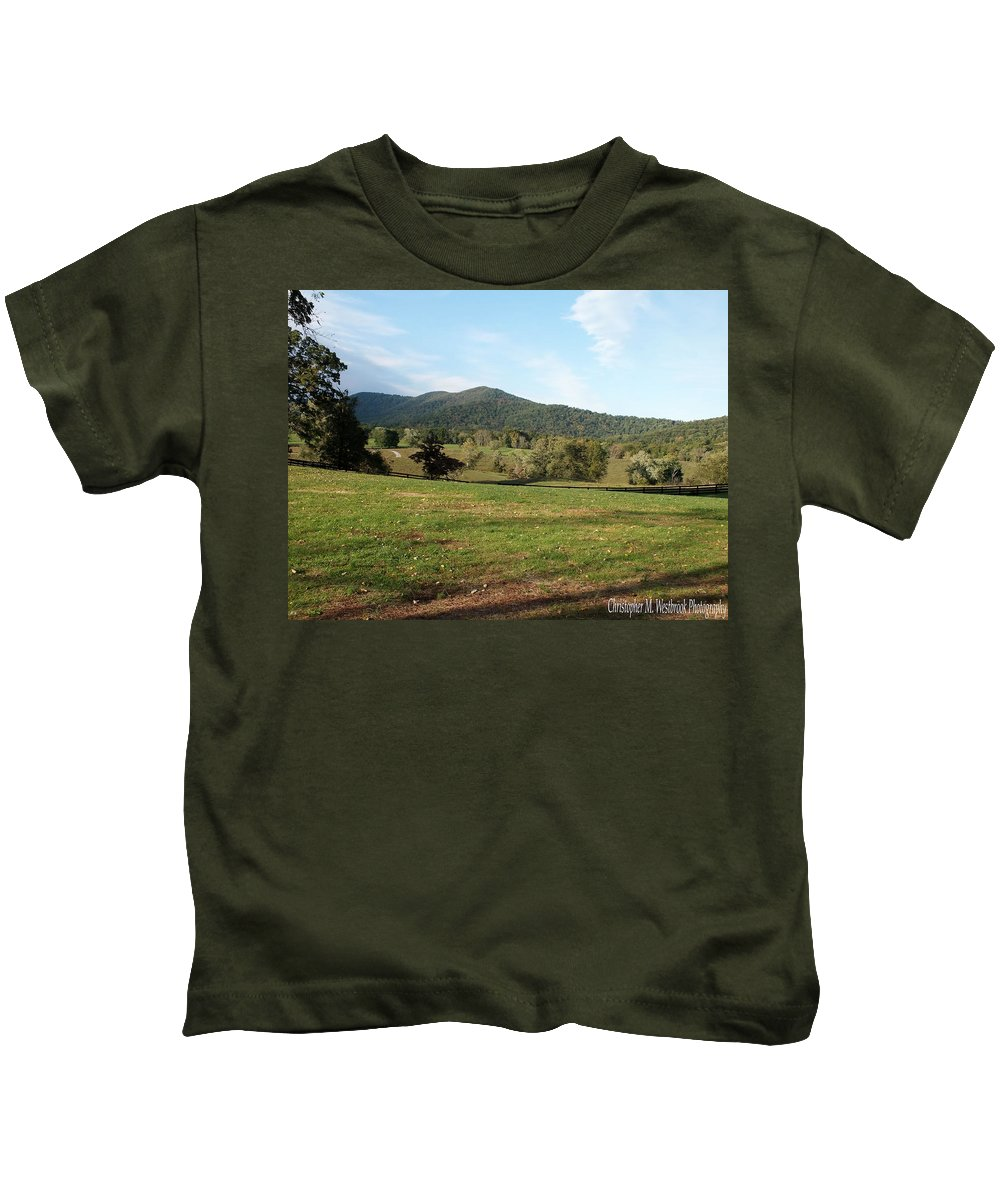 Sunlight Kids T-Shirt featuring the photograph The Hills Near Marriot Ranch by Christopher Westbrook