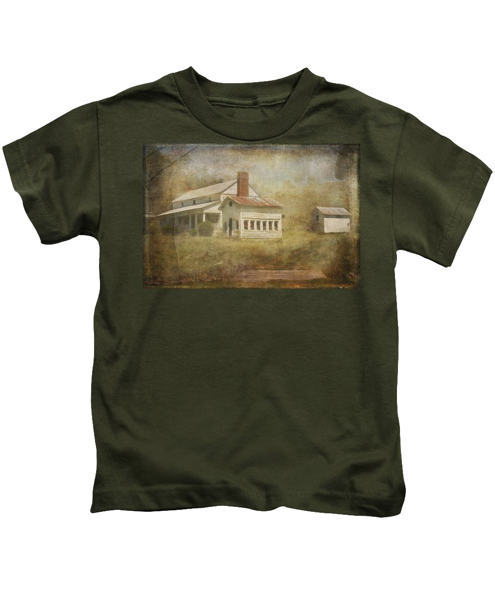 Landscape Prints Kids T-Shirt featuring the photograph The Home Place by Mel Hensley
