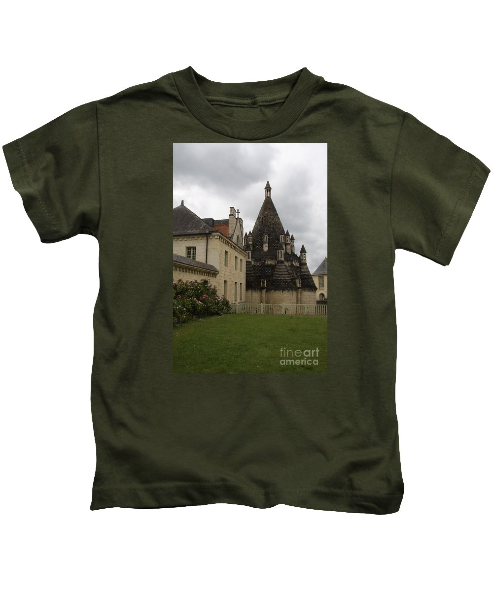 Kitchen Kids T-Shirt featuring the photograph The Kitchenbuilding - Abbey Fontevraud by Christiane Schulze Art And Photography