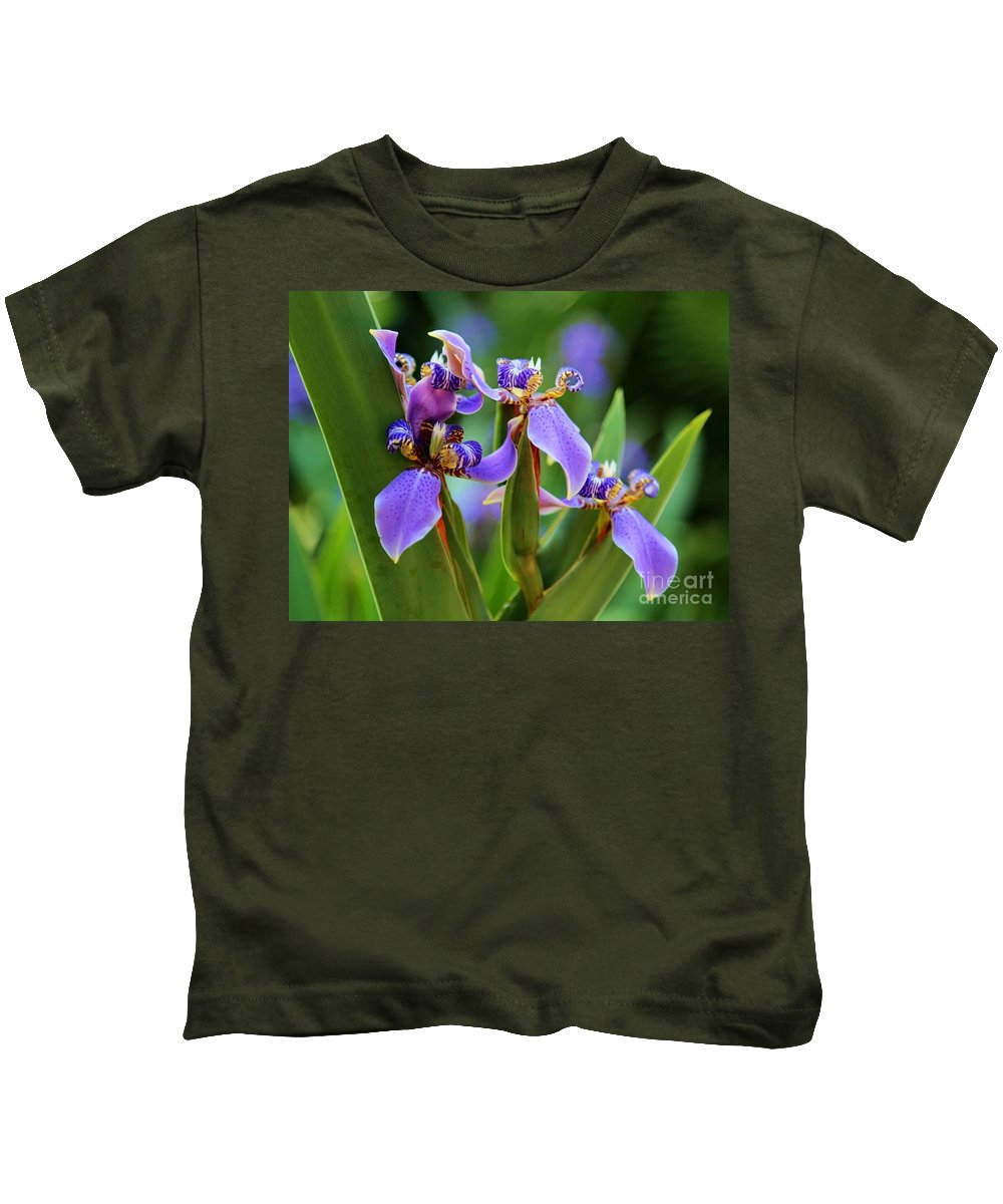 Iris Kids T-Shirt featuring the photograph The Land Of Fairies by Carol Groenen