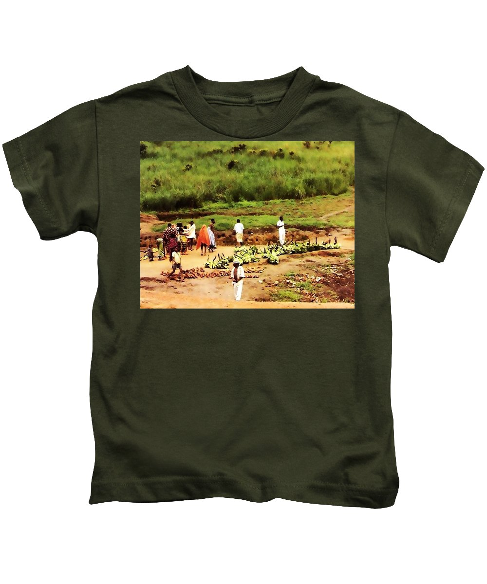 Africa Kids T-Shirt featuring the photograph The Market by Image Takers Photography LLC