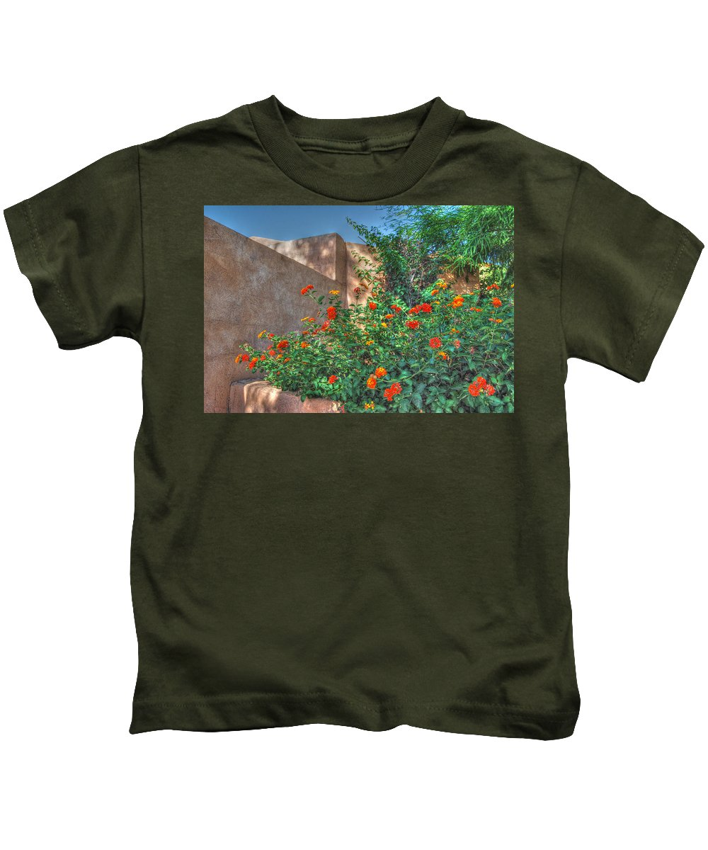 Southwest Architecture Kids T-Shirt featuring the photograph The Monastery by Tam Ryan
