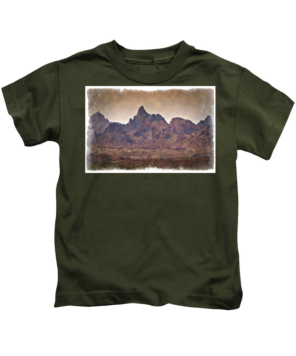 America Kids T-Shirt featuring the photograph The Needles - Impressions by Ricky Barnard