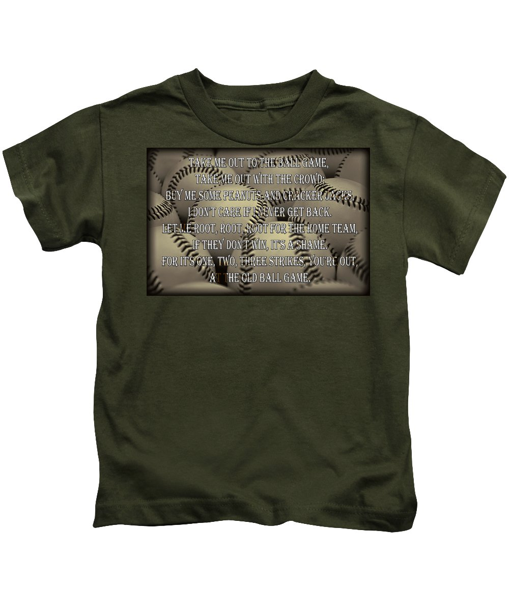 Take Kids T-Shirt featuring the photograph The Old Ballgame by Ricky Barnard