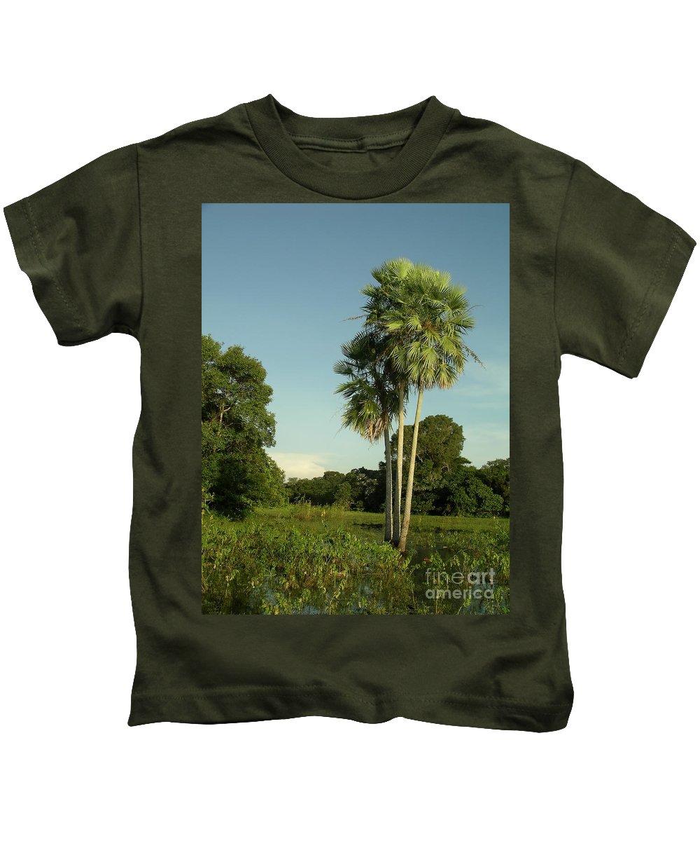 Brazil Kids T-Shirt featuring the digital art The Pantanal by Carol Ailles