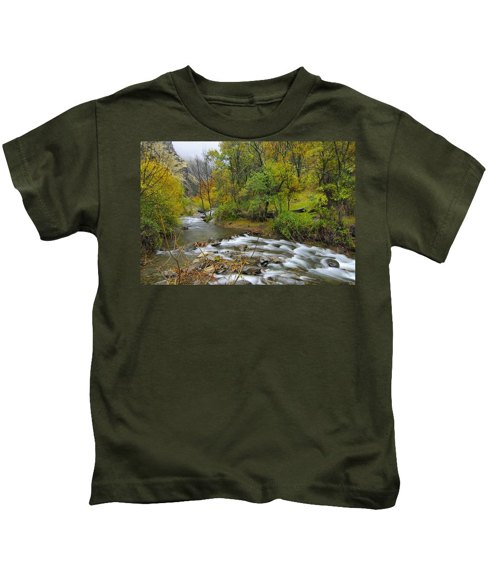 River Kids T-Shirt featuring the photograph The River by Guido Montanes Castillo