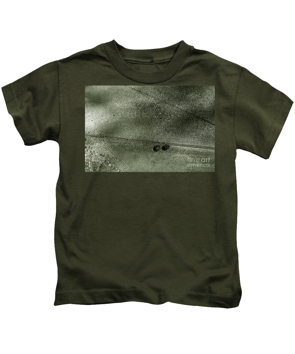 Abstract Kids T-Shirt featuring the photograph The Two With The Line by Fei A