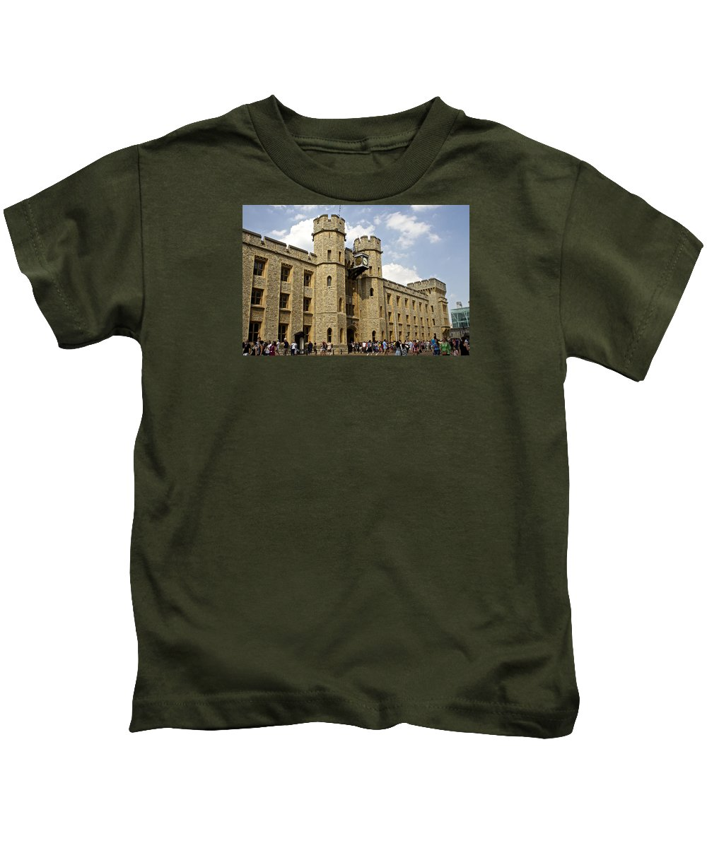 Unesco World Heritage Site Kids T-Shirt featuring the photograph The White Tower C1078 by Venetia Featherstone-Witty