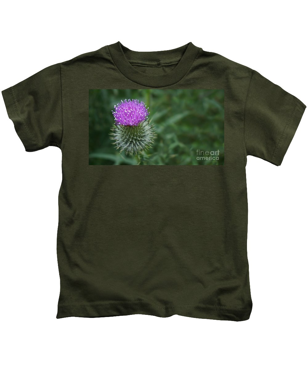Thistle Kids T-Shirt featuring the photograph Thistle by MSVRVisual Rawshutterbug