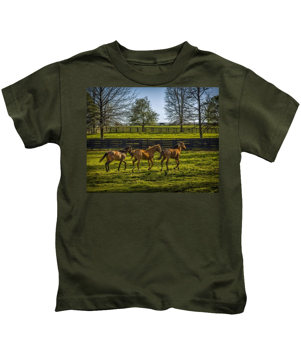 Animal Kids T-Shirt featuring the photograph Three Amigos by Jack R Perry