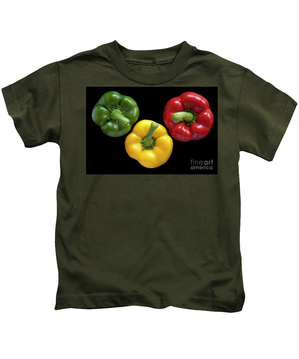 Heiko Kids T-Shirt featuring the photograph Three Colors by Heiko Koehrer-Wagner