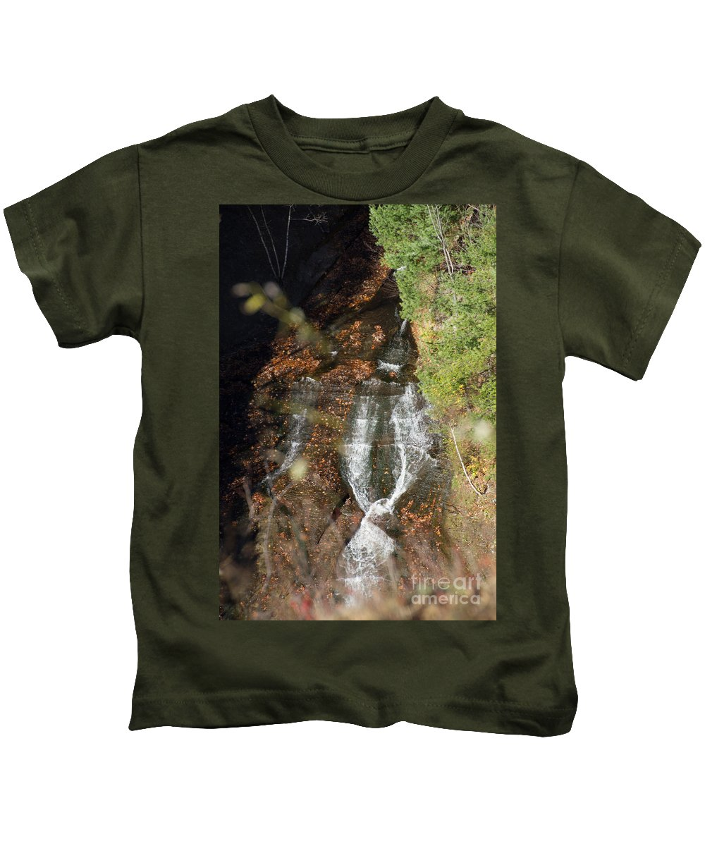 Letchworth Kids T-Shirt featuring the photograph Tie Falls by William Norton
