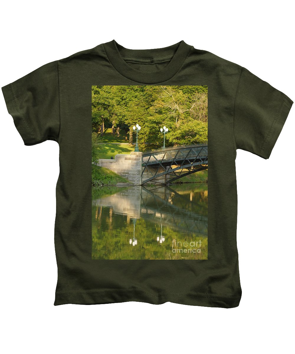 Gardens Kids T-Shirt featuring the photograph Time To Reflect by Jeffery L Bowers