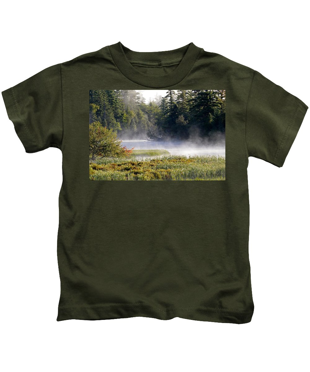 Mist Kids T-Shirt featuring the photograph Touch Of Fall by Thomas Phillips