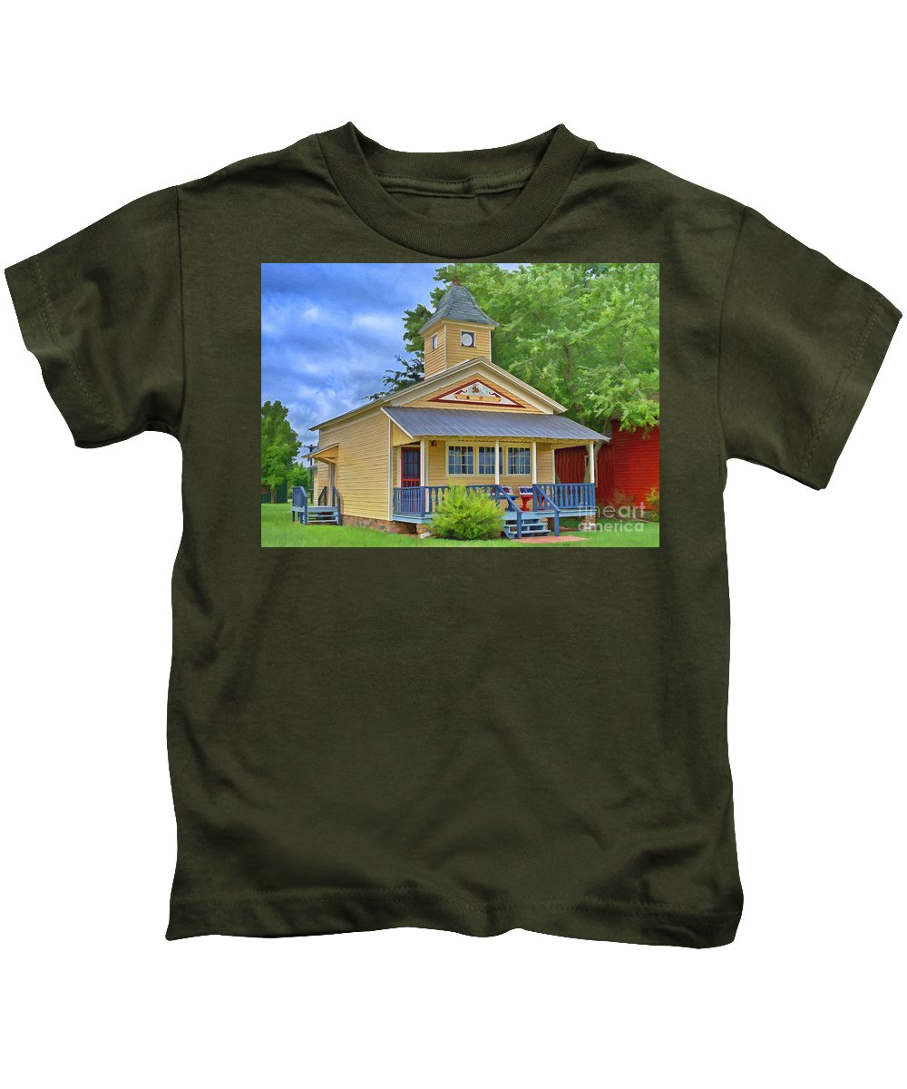 Town Hall Kids T-Shirt featuring the photograph Town Hall by Liane Wright