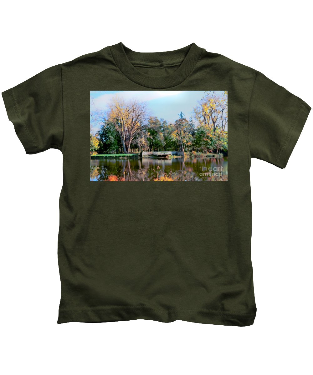 Como Kids T-Shirt featuring the photograph Tranquil by Kathleen Struckle
