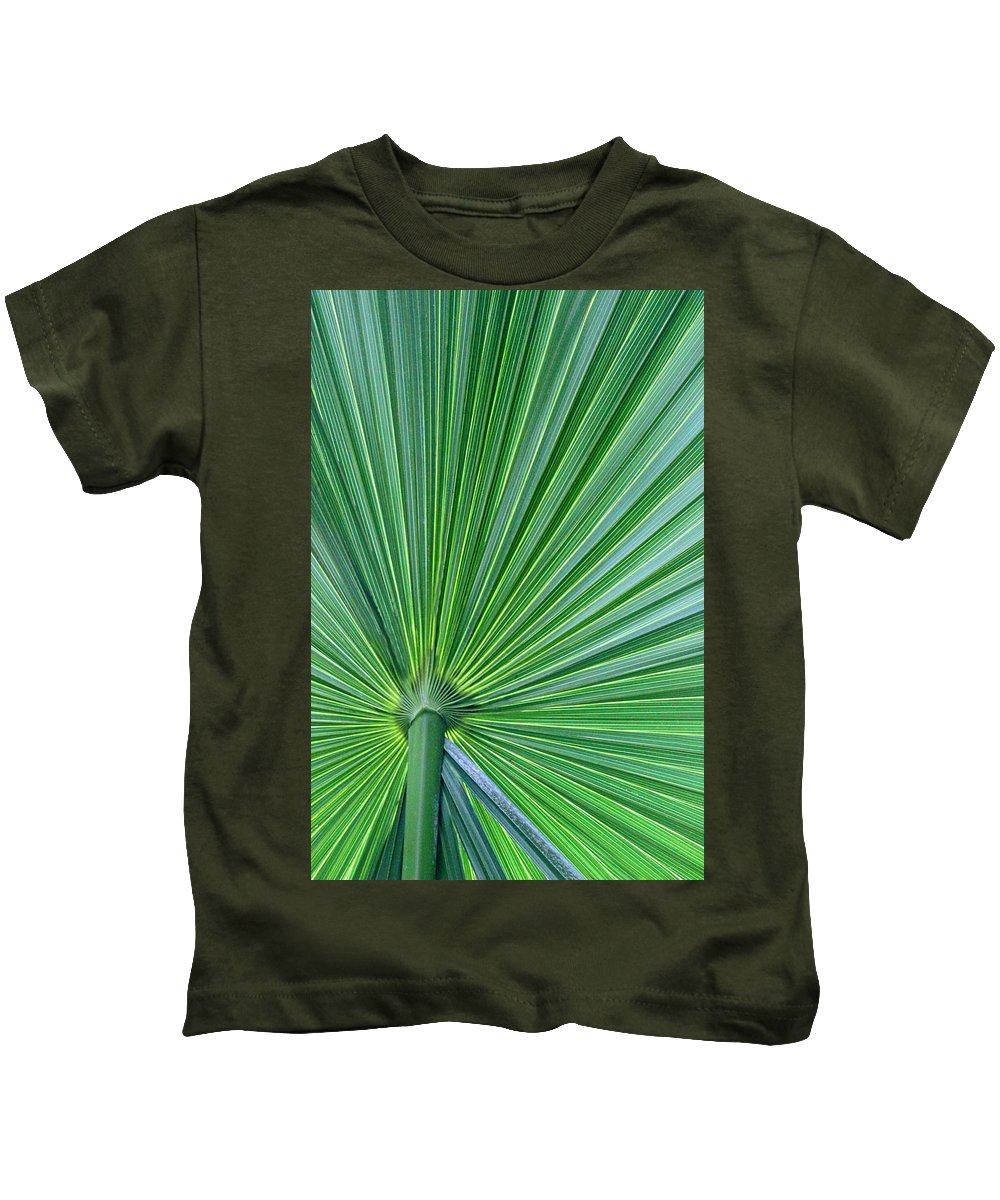 Greenery Kids T-Shirt featuring the photograph Tropical Leaf by Carolyn Stagger Cokley
