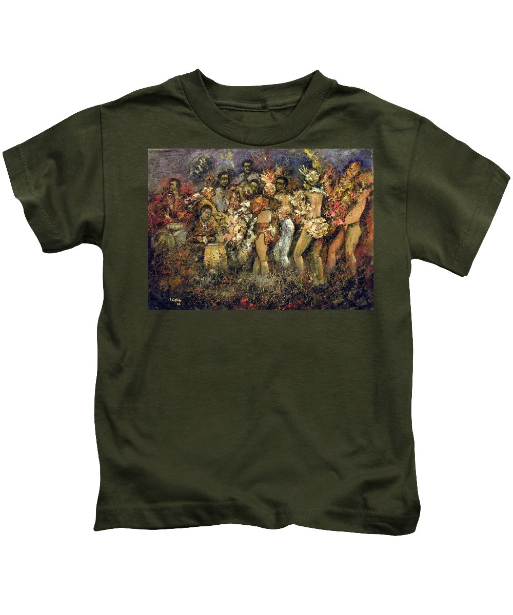 Tropicana Kids T-Shirt featuring the painting Tropicana Havana by Tomas Castano