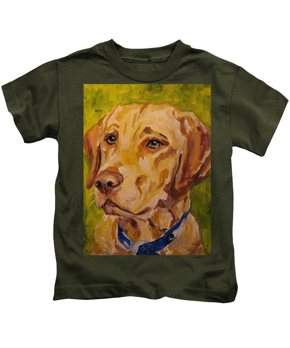 Kids T-Shirt featuring the painting Tucker by Susan Elizabeth Jones