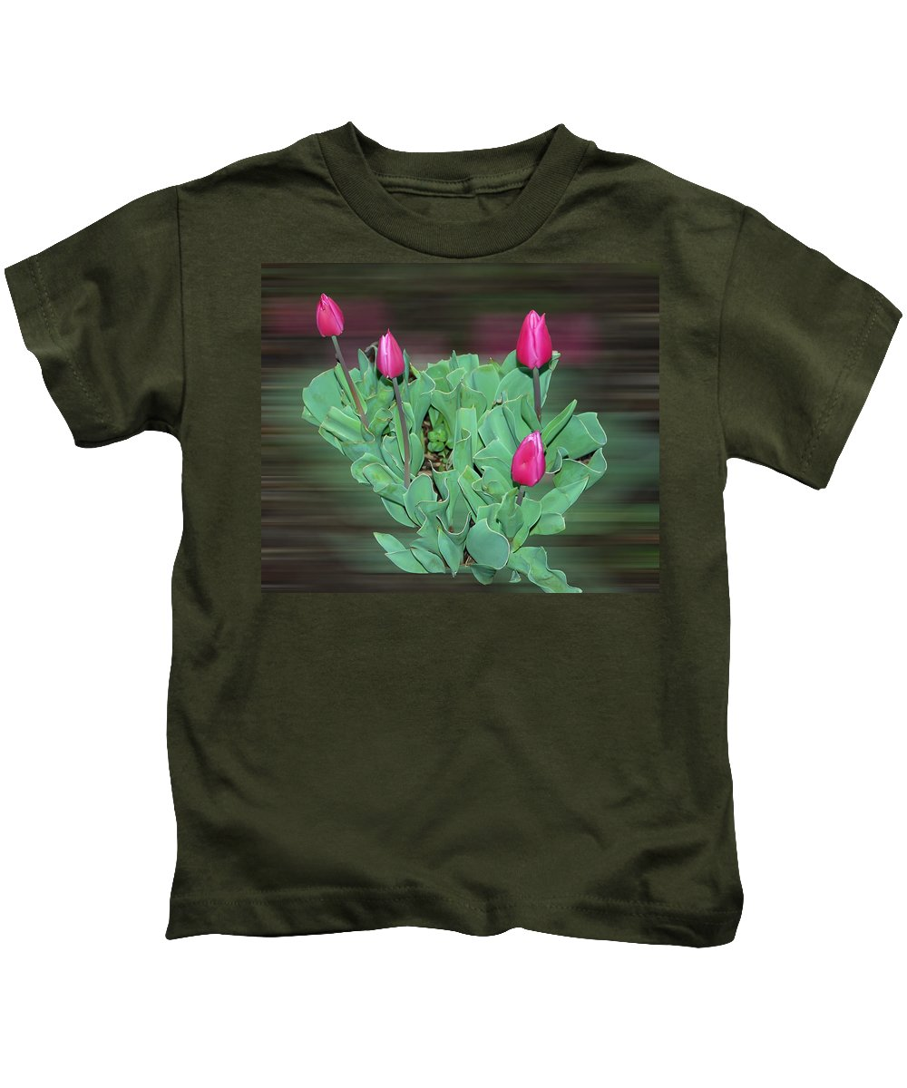 Tulip Kids T-Shirt featuring the photograph Tulip Bouquet by Aimee L Maher ALM GALLERY