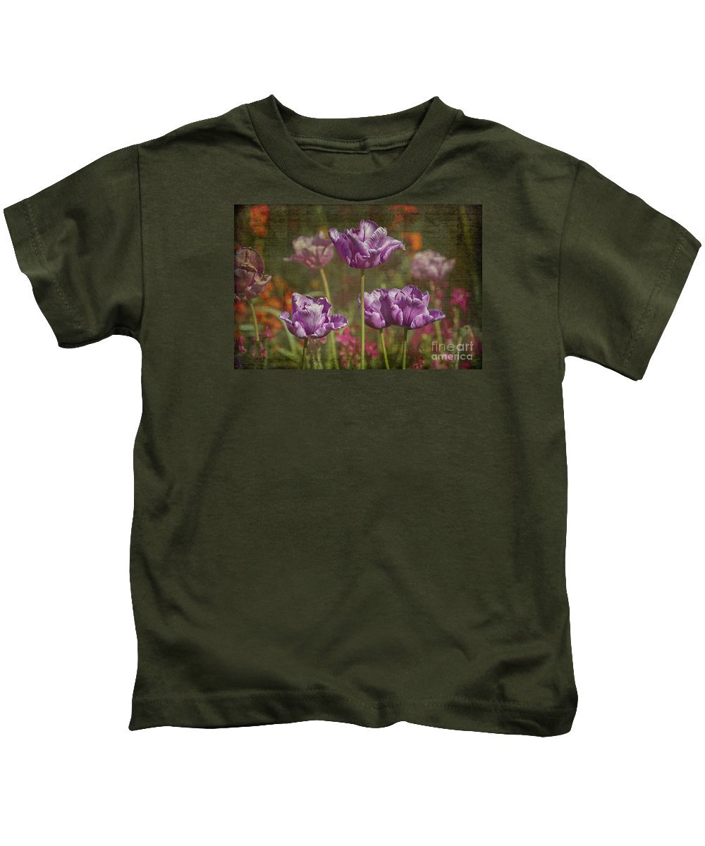 Clare Bambers Kids T-Shirt featuring the photograph Tulips by Clare Bambers