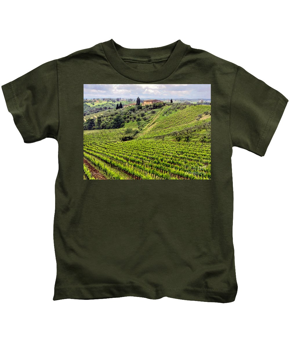Italy Kids T-Shirt featuring the photograph Tuscany-italy by Jennie Breeze