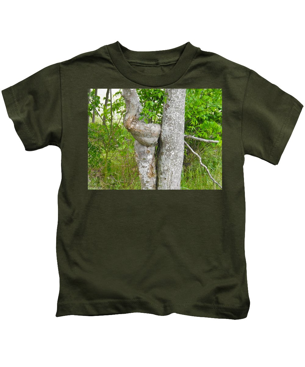 Twist Kids T-Shirt featuring the photograph Twisted Trunk by Nick Kirby