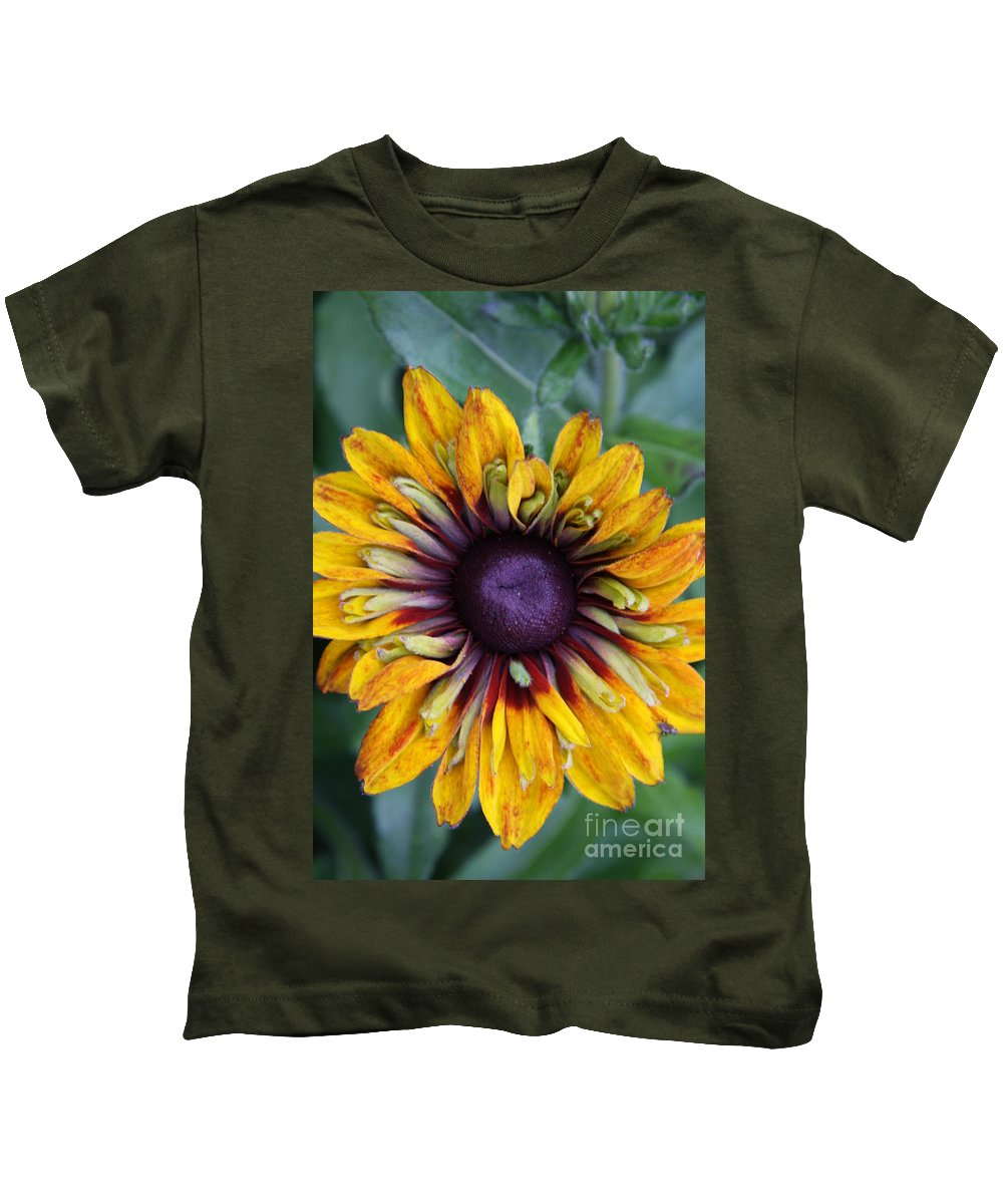 Sunflower Kids T-Shirt featuring the photograph Unique Sunflower by Christiane Schulze Art And Photography
