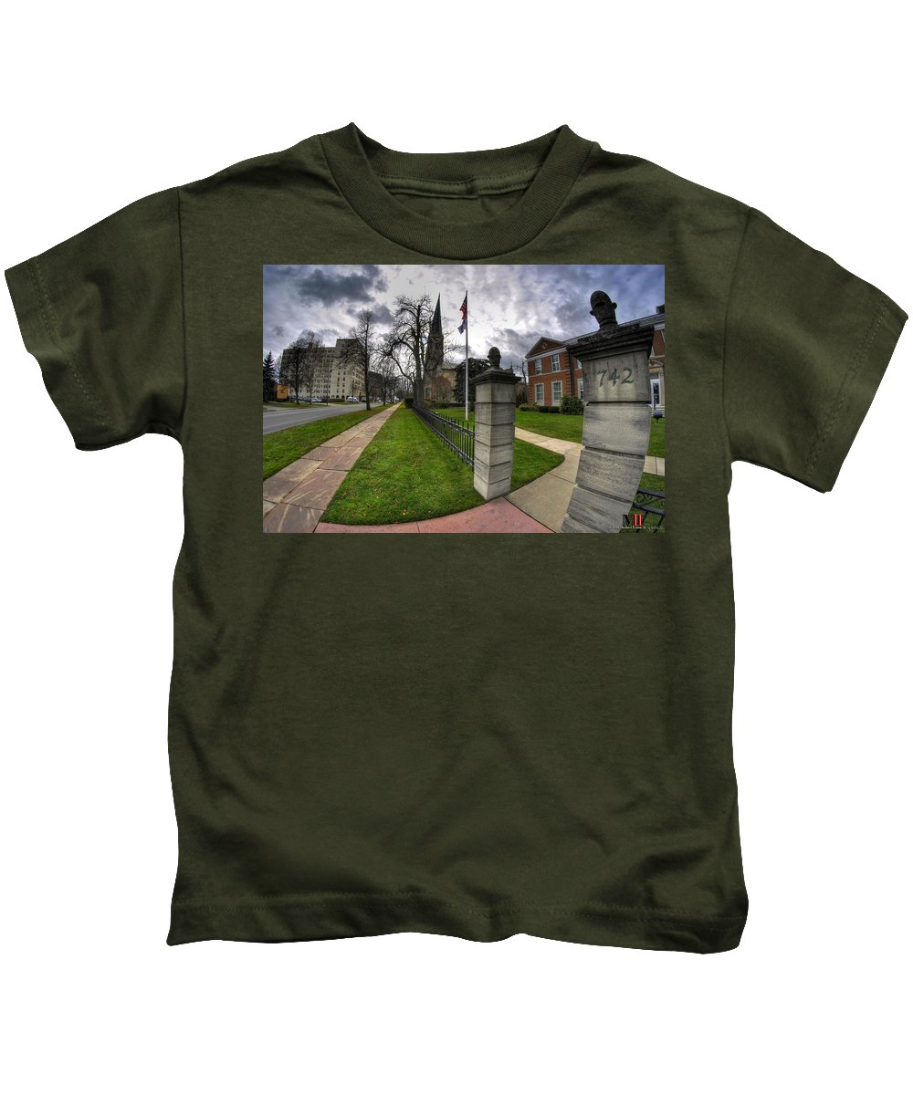 Michael Frank Jr Kids T-Shirt featuring the photograph United Way Of Buffalo And Erie County by Michael Frank Jr