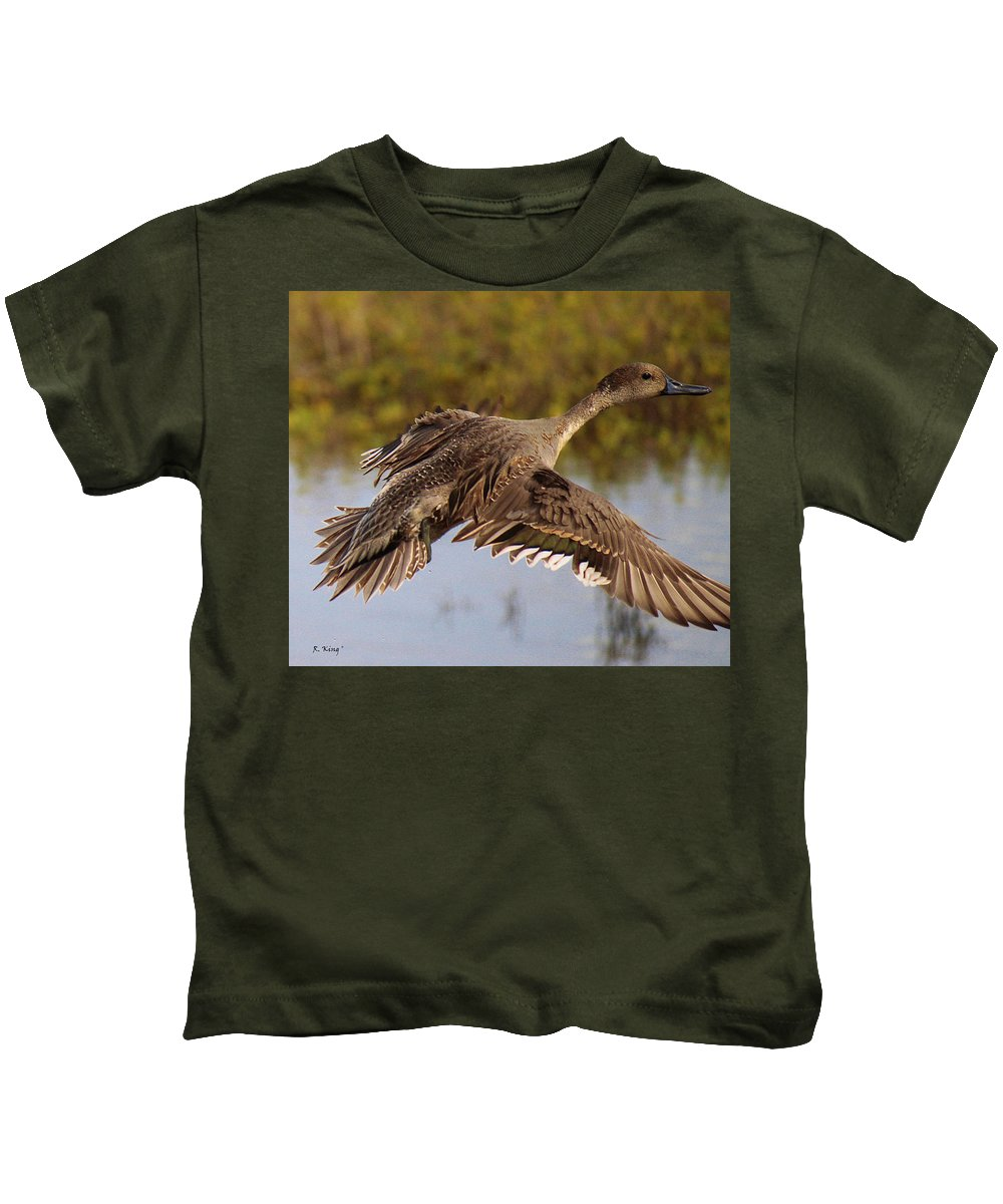 Roena King Kids T-Shirt featuring the photograph Up Up And Away by Roena King