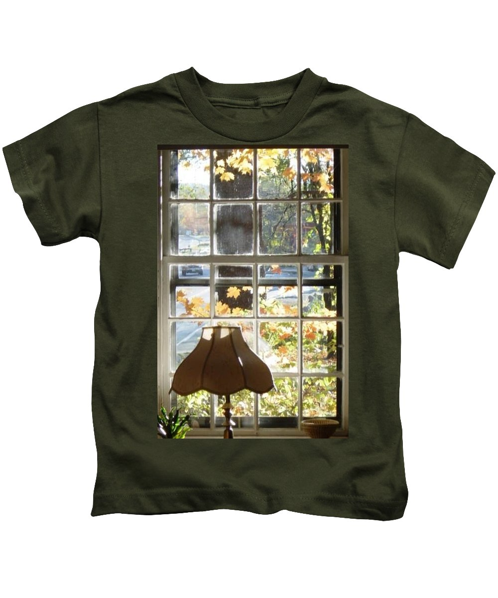 Kids T-Shirt featuring the photograph Vermont Window East View by Brian S Boucher