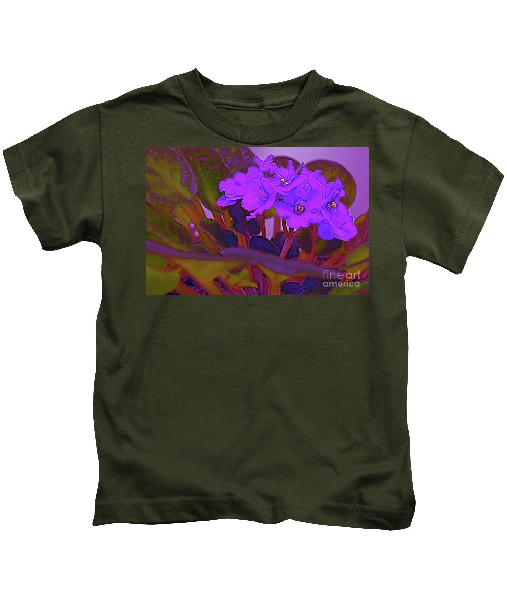 First Star Kids T-Shirt featuring the photograph Very Violets by First Star Art