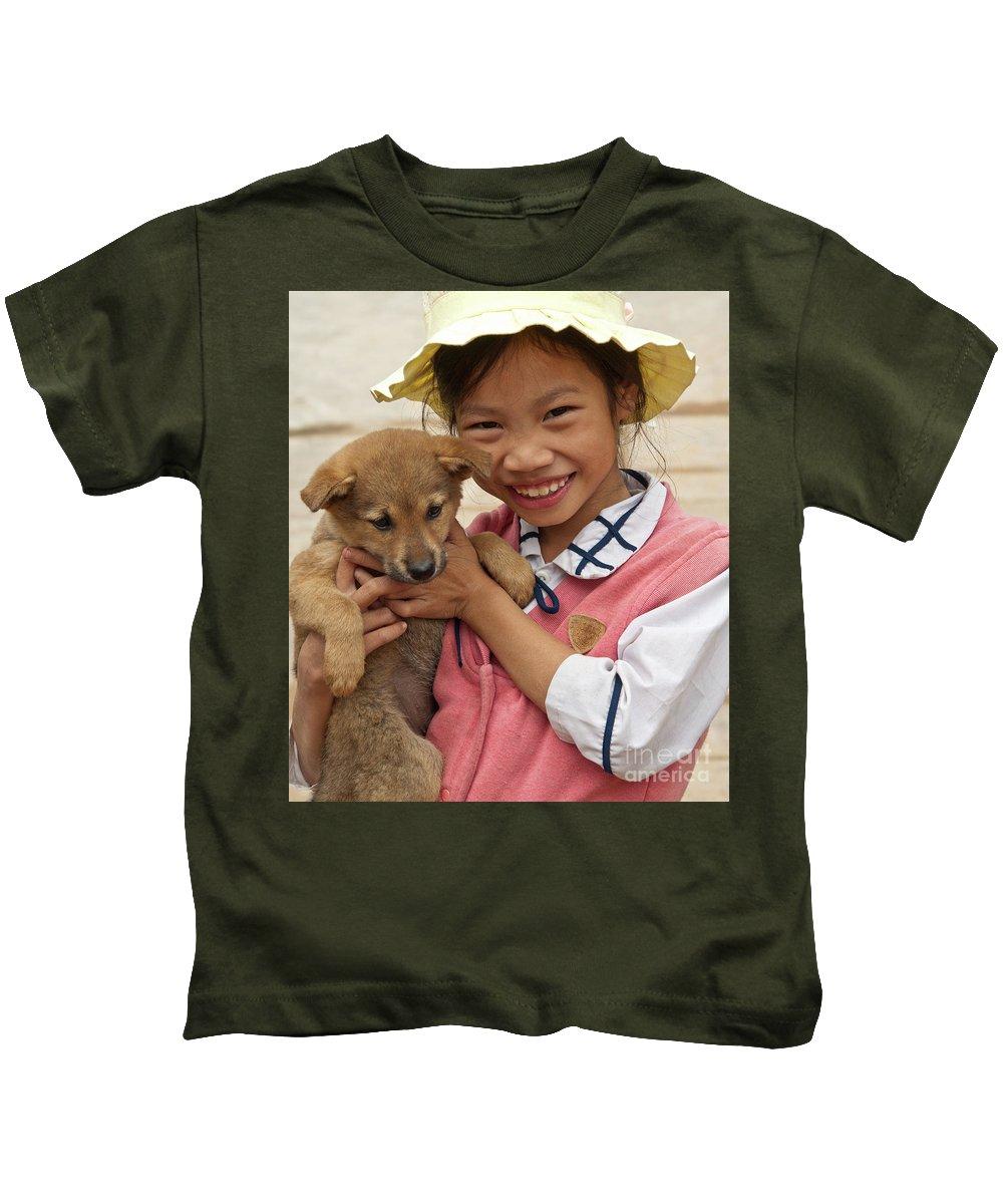 Vietnam Kids T-Shirt featuring the photograph Vietnamese Girl 02 by Rick Piper Photography