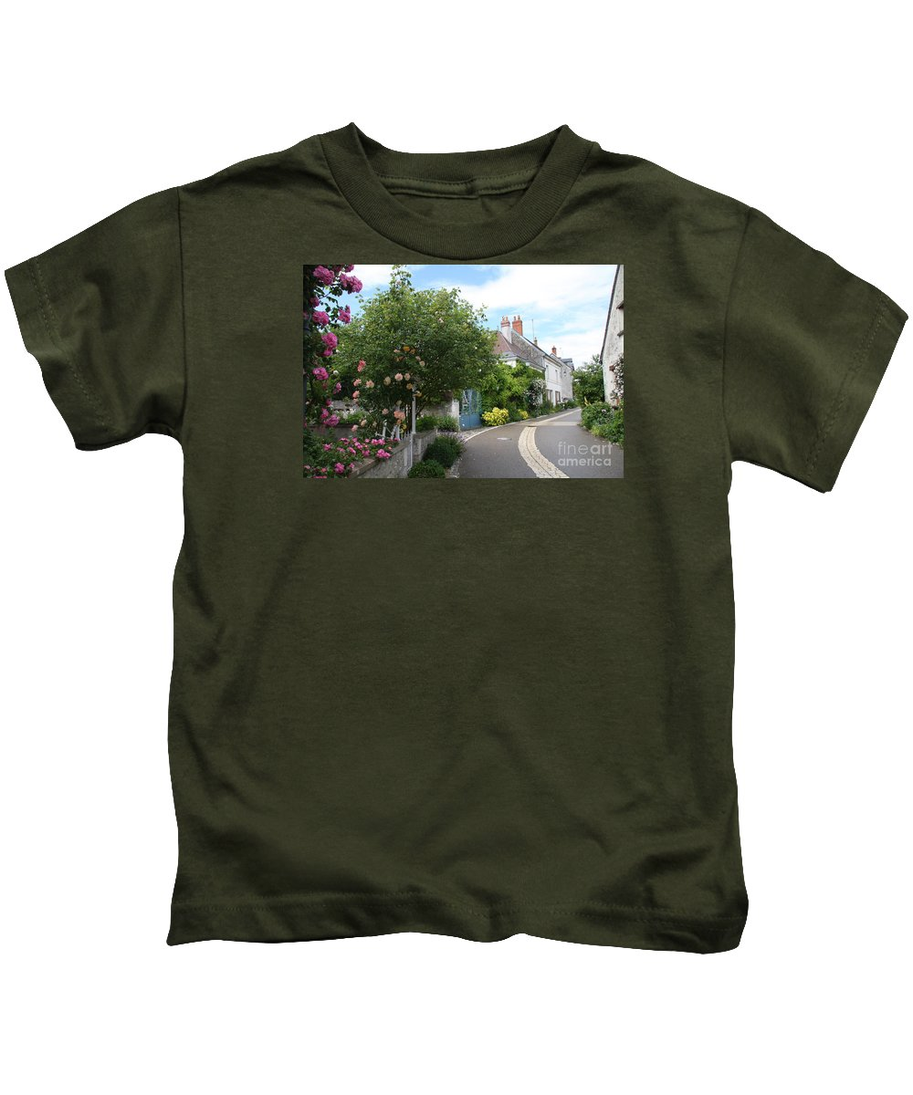 Village Kids T-Shirt featuring the photograph Village Road by Christiane Schulze Art And Photography